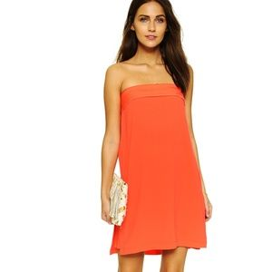 BCBG Strapless Coral Dress | A-line